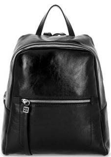 Черный кожаный рюкзак с одним отделом Gianni Chiarini