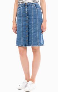 Джинсовая юбка с застежкой спереди Lee