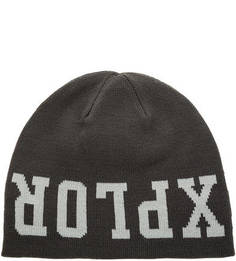 Двусторонняя шапка с логотипом бренда The North Face