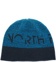 Двусторонняя шапка с синего цвета The North Face