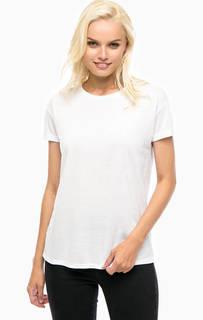 Белая футболка с кружевной вставкой на спине Mavi