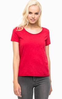 Однотонная красная футболка Mavi