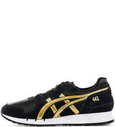 Черные кроссовки из натуральной кожи и текстиля Asics Tiger