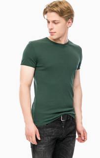 Зеленая футболка с круглым вырезом Mavi