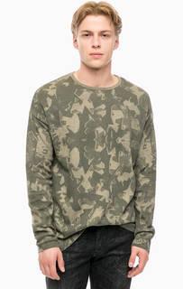 Джемпер цвета хаки с круглым вырезом Mavi