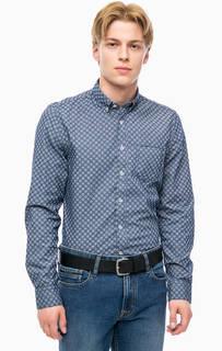 Хлопковая рубашка в горошек Marc Opolo