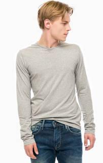 Однотонная футболка с длинными рукавами Pepe Jeans