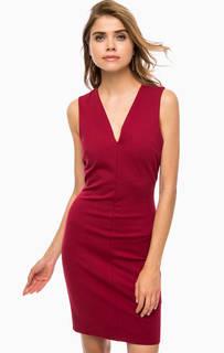 Бордовое платье-футляр на молнии Silvian Heach