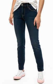 Синие джинсы с высокой посадкой Mustang