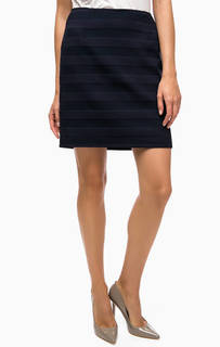 Короткая синяя юбка в полоску More & More