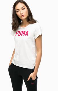 Хлопковая футболка с короткими рукавами Puma