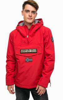 Красная утепленная куртка с карманами и капюшоном Napapijri