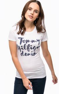Приталенная футболка с принтом Hilfiger Denim