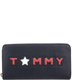 Синий кошелек на молнии Tommy Hilfiger