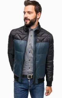Синяя стеганая куртка на молнии Antony Morato