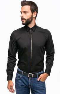 Черная хлопковая рубашка на пуговицах Antony Morato