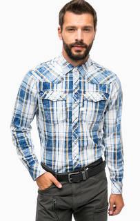 Хлопковая рубашка в клетку с карманами G Star RAW