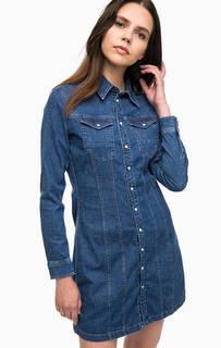 Приталенное джинсовое платье на кнопках G Star RAW