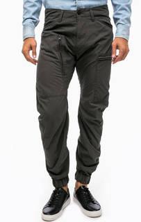 Хлопковые брюки цвета хаки с карманами G Star RAW