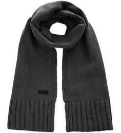 Серый вязаный шарф с высоким содержанием хлопка Pepe Jeans