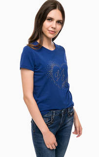 Хлопковая футболка с декором Liu Jo