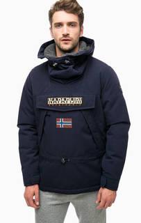 Утепленная куртка-анорак синего цвета Napapijri