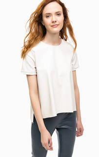 Блуза с короткими рукавами и молнией на спине Stefanel