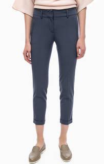 Синие зауженные брюки в классическом стиле Stefanel
