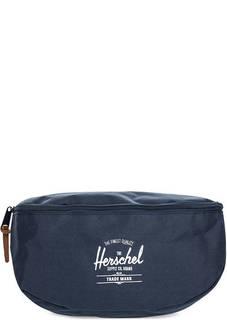 Синяя поясная сумка из текстиля Herschel