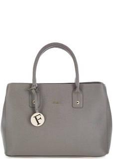 Серая сумка из сафьяновой кожи Furla
