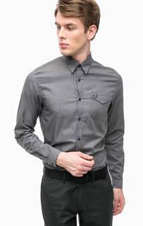 Рубашка в мелкую клетку с карманом Fred Perry