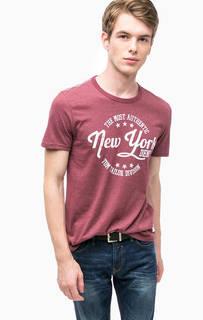 Фиолетовая футболка с принтом Tom Tailor Denim