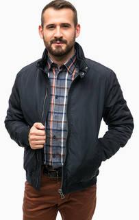 Синяя куртка с воротником-стойкой Lerros