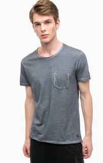 Серая футболка с необработанным краем Blend