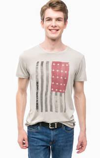 Серая футболка с принтом Blend
