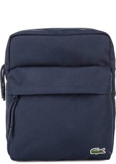 Синяя текстильная сумка через плечо Lacoste