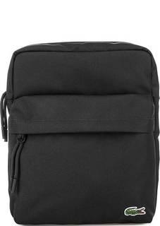 Черная текстильная сумка через плечо Lacoste