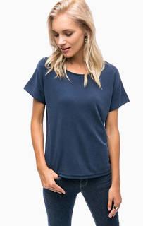 Синяя трикотажная футболка B.Young