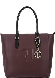Бордовая сумка с контрастными ручками Trussardi Jeans