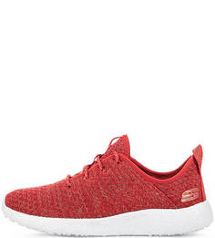 Красные текстильные кроссовки Skechers