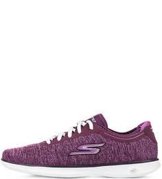 Фиолетовые текстильные кроссовки Skechers