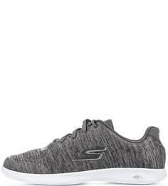 Серые текстильные кроссовки Skechers