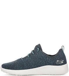 Синие текстильные кроссовки Skechers