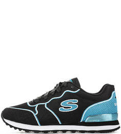 Текстильные кроссовки с контрастными вставками Skechers