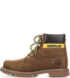 Коричневые ботинки из натуральной кожи Caterpillar