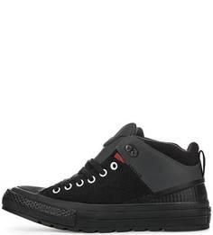 Утепленные кеды черного цвета Converse