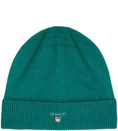 Зеленая шапка из шерсти Gant