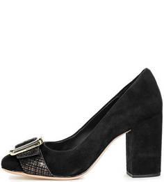 Замшевые туфли на устойчивом каблуке Clarks