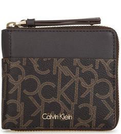 Коричневое портмоне на молнии Calvin Klein Jeans