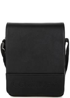 Черная сумка с откидным клапаном через плечо Calvin Klein Jeans